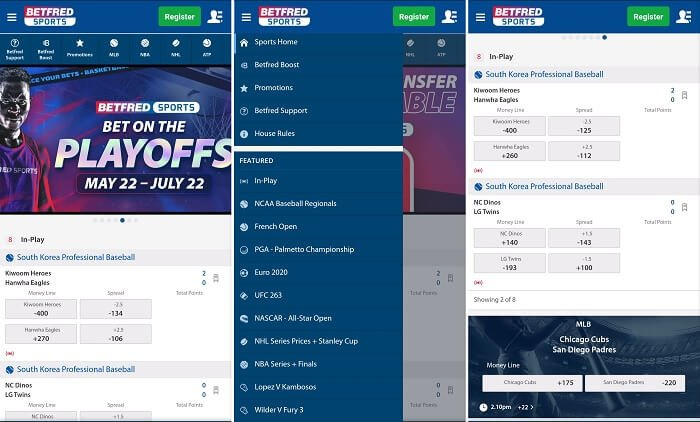 Betfred sports Android app