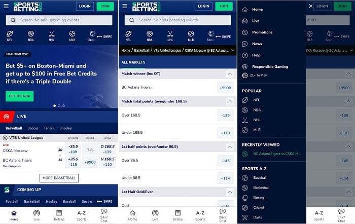 SportsBetting.com app