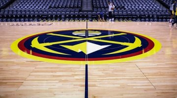 Denver Nuggets court