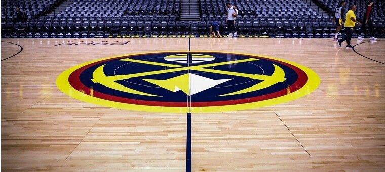 Denver Nuggets court