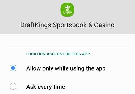 DraftKings Sportsbook & Casino allow location
